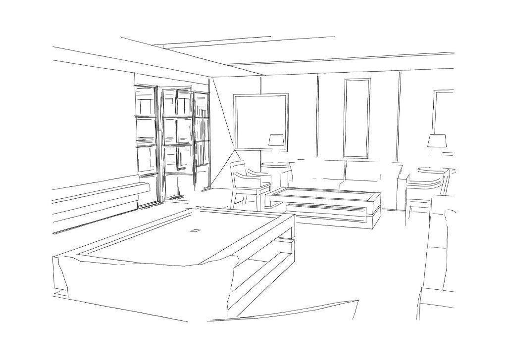 we can turn sketches into 3d images for interior design