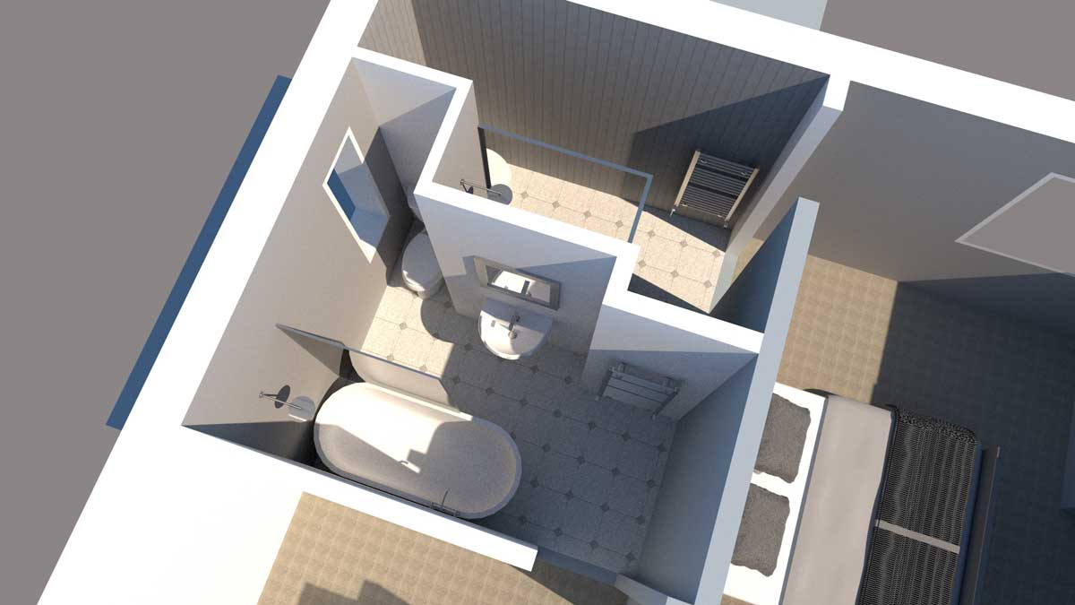3d interior design of bathroom