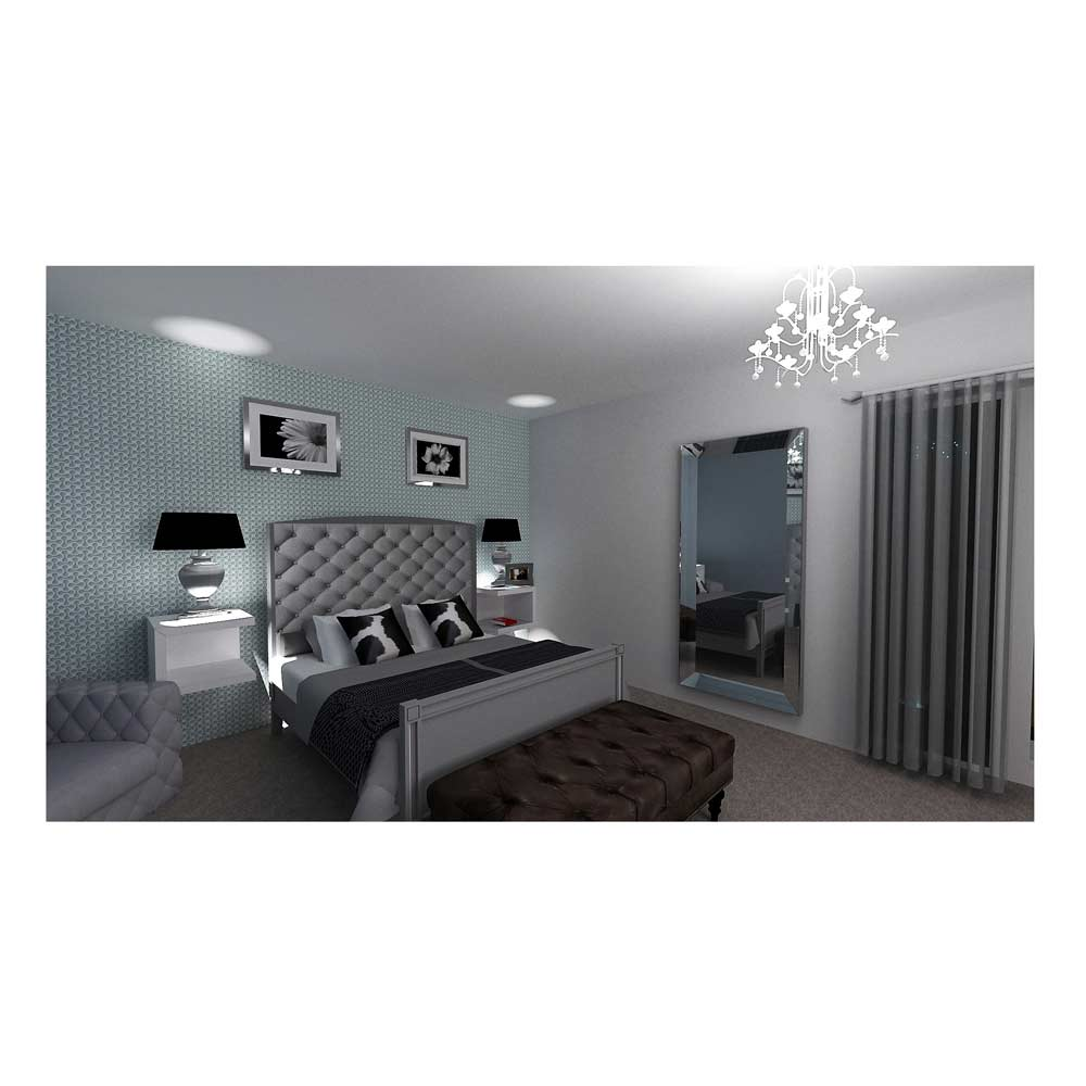 home  visuals image of 3d visualisation of bedroom